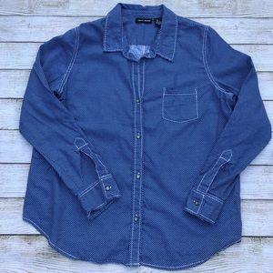 DKNY Jeans Denim Button Down Shirt Size L